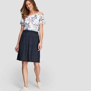 Joe fresh midnight navy blue tassel skirt